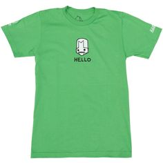 #CastleCrashers Hello Knight t-shirt. Poisonous cloud billows forth, knocking over any enemies it hits and poisons them (if they are not already poisoned). HELLO, it's the green knight tee!