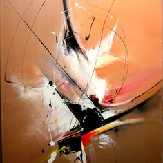"""secret 222"" tableau moderne peinture intuitive"