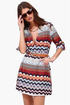 Desert Tunic Dress - Multi *This would look good on my skin. Love it*