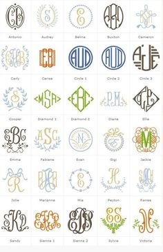 Different Types Of Monogrammed FontsUseful Tool To Use When