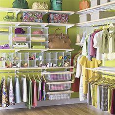 The Container Store > Birch & White elfa décor Master Walk-In Closet