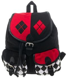 DC Comics Harley Quinn Knapsack Mochila Backpack