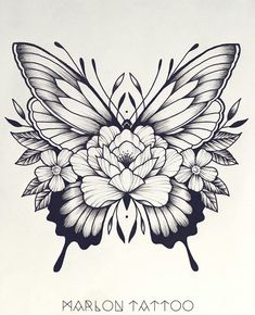 Hmm... I don't usually like butterflies. But I like this. #HotTattoos