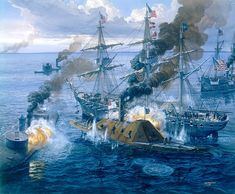 BATTLE OF MOBILE BAY, ALABAMA 1864
