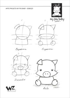 ILLUSTRATION PROJECTS- PIG-MEU BEBÊ PIG PROJETCS no Pantone Canvas