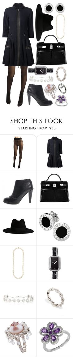 """""""3326"""" by lexi96z ❤ liked on Polyvore featuring Wolford, Chanel, Hermès, Yves Saint Laurent, Bulgari, Colette Jewelry and Lord & Taylor"""