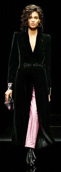 Giorgio Armani fall 2020 Giorgio Armani, Rose, Wrap Dress, Gowns, Formal, Chic, Pink, How To Wear, Black