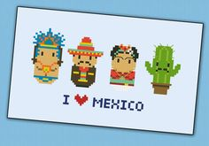 Mexico icons (small version) – Mini people around the world