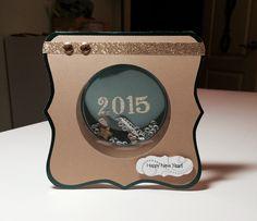 New Years shaker card Scraptastics1.blogspot.com