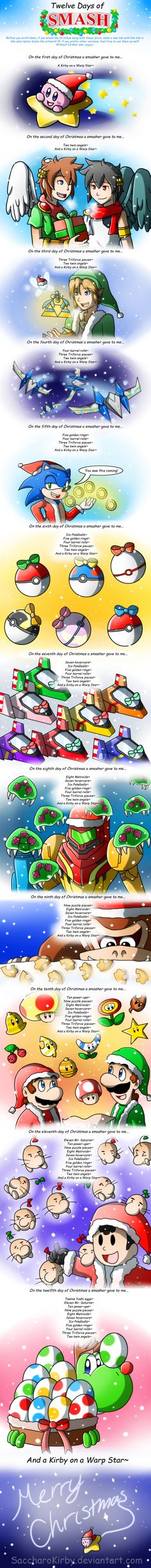 Twelve Days of Smash~ by SaccharoKirby.deviantart.com on @DeviantArt
