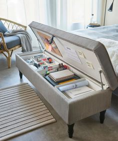 14 fresh ideas to plan and organize your craft room - IKEA Hackers Room Design Bedroom, Room Ideas Bedroom, Home Room Design, Ikea Bedroom, Study Room Decor, Bedroom Stuff, Ikea Room Ideas, Storage Ideas For Bedroom, Attic Bedroom Storage