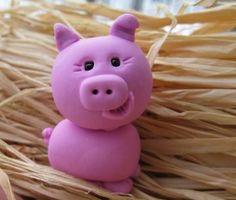 Polymer Clay Piggy animals