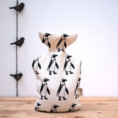 This beautiful handmade hot wheatabottle makes a lovely gift at Christmas. It has been designed, screen printed and sewn together by Megan All About Penguins, Cute Penguins, Penguin World, Penguin Love, Penguin Party, Winter Treats, When You Love, Little People, Gifts For Girls