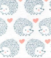 Snuggle Flannel Fabric-Hedgehog Love,