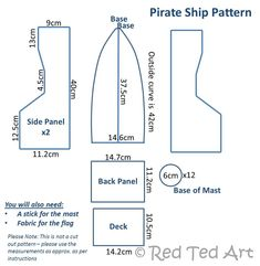 How to make a Pirate boat...wonder if I can do this with wood for a play area in the backyard!