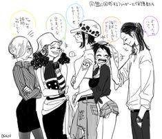One Piece Genderbend One Piece Comic, One Piece Fanart, One Piece Anime, One Piece World, One Piece Ship, Anime Couples Manga, Cute Anime Couples, Anime Girls, One Piece Zeichnung