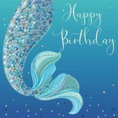 Mermaid Happy Birthday, Happy Birthday Celebration, Birthday Poems, Happy Birthday Wishes Cards, Happy Birthday Pictures, Birthday Blessings, Happy Wishes, Happy Birthday Quotes, Birthday Love