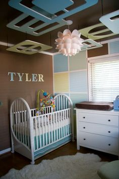 Interesting....I love the ceiling, definitely gives the baby visual stimulation.