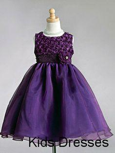 Handmade Flower Chiffon Scoop Sleeveless A-line Ball Gown Flower Girl Dress  $350USD