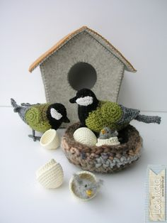 Crochet birds by the talented Agnieszka Nowak - Lalinda.pl