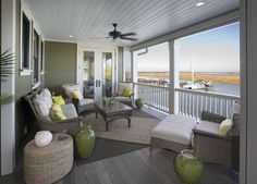 I dream of an upper level porch like this!