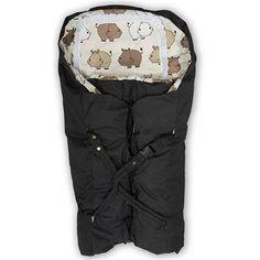 BabyTrold kørepose - Print med flodheste Med bæreplade og andeduns vinterdyne (750-1000,-)