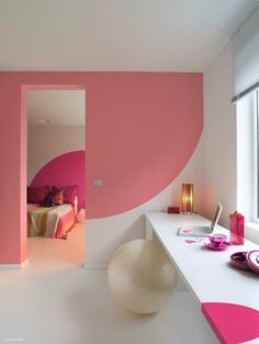 Dynamic Color Blocking - Wall Painting Concepts.. Children's connecting rooms