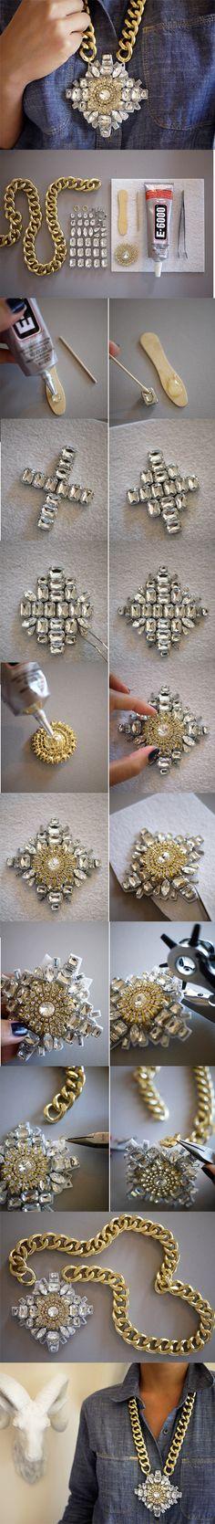 Crystal Necklace – #DIY