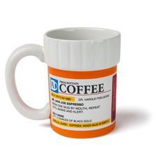 Get just the right dosage of caffeine hehe | | Check it out ==> http://gwyl.io/prescription-coffee-mug/