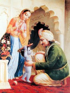 """The Lord enjoys more when someone takes Him as his subordinate son who needs the protection of a father than He does when someone accepts Him as the Supreme Lord. He is the father of everyone, and He protects everyone, but when His devotee takes it for granted that the Lord is to be protected by the devotee's care, it is a transcendental joy for the Lord."" -SB3.2.26p"