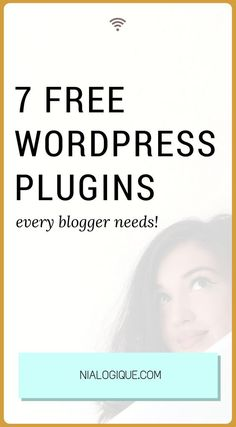 7 Incredible, Free, and Useful WordPress Plugins. Oh, and did I mention they were free? | Ranging from SEO to blog functionality, Nialogique recommends the top 7 free Wordpress plugins, that every newbie blogger should have installed on their website.