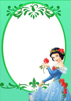 """Princesses"": green ""Snow White & Red Roses"", as courtesy of Walt Disney"