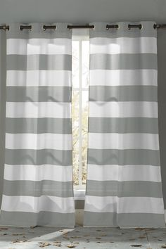 Toto Grommet Curtains - Set of 2 - Grey