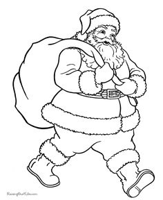 Santa, Christmas Pictures to Color, Christmas Coloring Page, FREE Coloring Page Template Printing Printable Christmas Coloring Pages for Kids, Santa Claus Santa Coloring Pages, House Colouring Pages, Christmas Coloring Sheets, Printable Christmas Coloring Pages, Free Printable Coloring Pages, Coloring Pages For Kids, Coloring Books, Free Printables, Christmas Colors