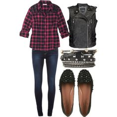 The time to shop fall's must-have denim is now! The slim silhouette of skinny jeans is an everyday favorite. With new colors, prints & washes for fall, you can wear a different pair every day of the week! Today, let's top a dark indigo wash pair with a sequin embellished plaid shirt, topped with an edgy moto vest. Finish with accessories & smoking flats that are full of attitude & edgy autumn style!