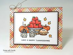 Stamp with Sandy: Lawn Fawn Thanksgiving