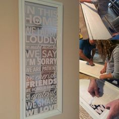 How to: vinyl quotes on mirror