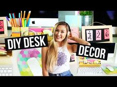 Nice Do-it-yourself Desk Corporation & Extras to Make Your Desk Lovable! | LaurDIY