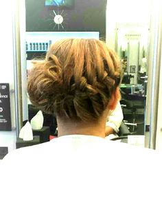 Hair up i did for a lady attending a wedding. Pic.1