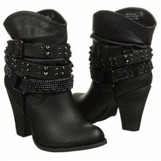 Not Rated Women's Double Dip Boot High Boots, Ankle Boots, Rocker Chic Style, Studded Combat Boots, Harley Davidson Boots, Cute Boots, Biker Girl, Me Too Shoes, Fashion Shoes