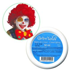 Fard maquillage Blanc de clown : Chez Rentreediscount Loisirs créatifs Maquillage Grim Tout, Maquillage Halloween, Disney Characters, White Makeup, Tarte Cosmetic, Creative Crafts, Face