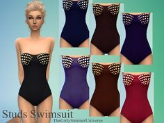 The Sims Resource: Studs Swimsuit by TheGirlySimmerUniverse • Sims 4 Downloads