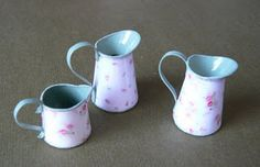 """miniature """"enamel"""" pitchers from paper tutorial More"""