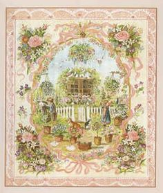 "Tasha Tudor Be Mine Cards  In this image the green garden and cheerful scene show the size of the mailbox is as large as one's imagination can make it. This is a sweet scene of Valentines Day in a green garden with doves, flowers, children, cat, corgi, and special mailbox.   Size: cards are 5"" x 5 3/4"" with 5 x 7 envelopes to avoid extra postage when mailing. Interior: Blank. 8 cards/envelopes. Printed in USA."