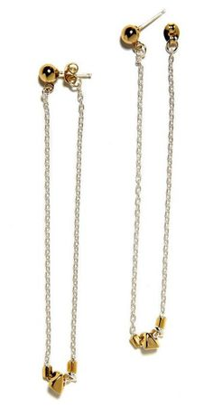 Bing Bank Jewelry NY, Continuous Beaded Chain Earrings, $85.00