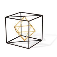 Wire Cube Sculpture