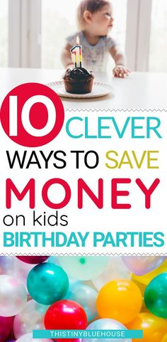 Kids birthday parties don't have to cost a fortune. Here are 10 clever ways to save money on kids birthday parties! Awesome kids parties can totally happen on a budget - here's how to do Ways To Save Money, Money Tips, Birthday Party Themes, Birthday Ideas, Birthday Emoji, Baby Birthday, Birthday Cakes, Saving Ideas, Saving Tips