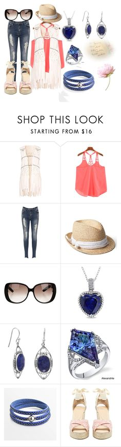 """""""Spring Beginnings"""" by brinkofdisaster ❤ liked on Polyvore featuring Hot Anatomy, WearAll, Gap, Gucci, Miadora, Oravo, Castañer, casualoutfit and Spring2017"""