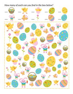 Easter I Spy Game {free Easter printables} - Gift of Curiosity Sensory Activities Toddlers, Easter Activities, Spring Activities, Cognitive Activities, Class Activities, Sensory Play, Toy Story Birthday, Toy Story Party, I Spy Games
