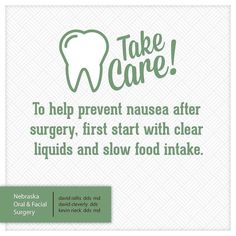 Taking care of yourself after your procedure is key to a healthy recovery! #NOFS #PatientFirst #Lincoln #LNK #Nebraska #dental #oralsurgery #wisdom #wisdomteeth #3rdmolar #3rds #impact #Appointment #wellness #Health #healthy #Healthyliving #wellnessworks #care #surgery #dentalimplants #implants #takecare by ne_oralfacialsurgery Our Oral Surgery Page: http://www.myimagedental.com/services/oral-surgery/ Google My Business: https://plus.google.com/ImageDentalStockton/about Our Yelp Page…